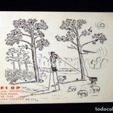 Radios antiguas: TARJETA POSTAL QSL RADIOAFICIONADO. F1OP - DAX (FRANCIA), 1967. RADIO AFICIONADO . Lote 164592458