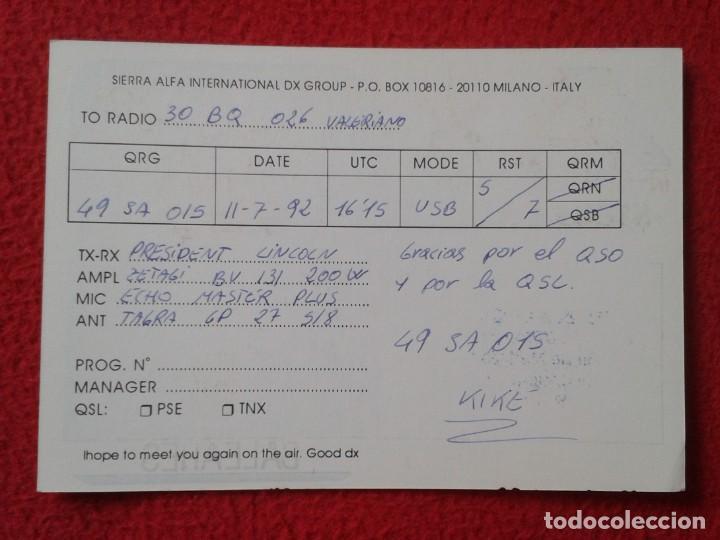 Radios antiguas: POSTAL POST CARD QSL RADIOAFICIONADOS RADIO AMATEUR ISLAS BALEARES BALEARIC ISLANDS PALMA MALLORCA.. - Foto 2 - 168292188