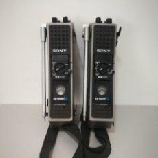 Radios antiguas: PAREJA WALKIE TALKIE SONY ICB 1000 W. Lote 170106604