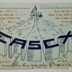 Radios antiguas: TARJETA RADIOAFICIONADO EA-5-CX, VALENCIA , AÑOS 50. Lote 172453135