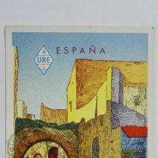Radios antiguas: TARJETA RADIOAFICIONADO EA-9-AR, MELILLA - MARRUECOS, AÑOS 50. Lote 172477832
