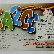 Radios antiguas: TARJETA RADIOAFICIONADO, EA-2-CC, VITORIA, AÑOS 50. Lote 172538064