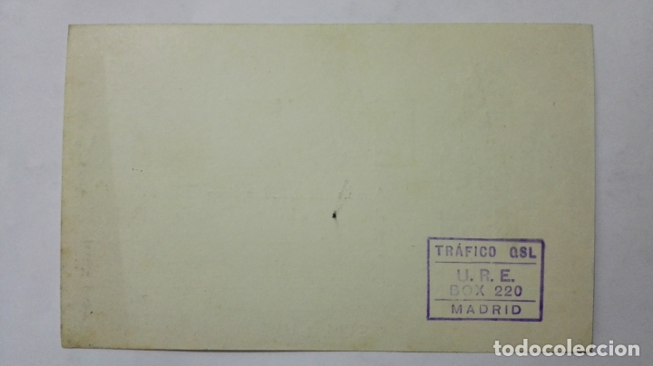 Radios antiguas: TARJETA RADIOAFICIONADO, EA-7-CA, SEVILLA, AÑOS 50 - Foto 2 - 172538584