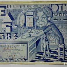 Radios antiguas: TARJETA RADIOAFICIONADO, EA-5-384, VALENCIA, AÑOS 50. Lote 172547127