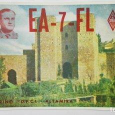 Radios antiguas: TARJETA RADIOAFICIONADO, EA-7-FL, MALAGA, AÑOS 50. Lote 172548304