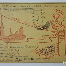 Radios antiguas: TARJETA RADIOAFICIONADO, F-9-MZ, FRANCE, AÑOS 50. Lote 172549555