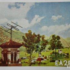 Radios antiguas: TARJETA RADIOAFICIONADO, EA-2-EV, VILLAVA - PAMPLONA, AÑOS 50. Lote 172553795