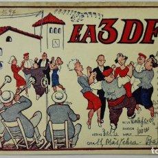 Radios antiguas: TARJETA RADIOAFICIONADO, EA-3-DF, BARCELONA, AÑOS 50. Lote 172700988