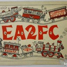 Radios antiguas: TARJETA RADIOAFICIONADO, EA-2-FC, BILBAO, AÑOS 50. Lote 172705349