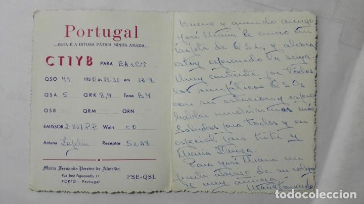 Radios antiguas: TARJETA RADIOAFICIONADO, CT-1-YB, PORTO - PORTUGAL, AÑOS 50 - Foto 2 - 172707848