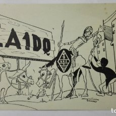 Radios antiguas: TARJETA RADIOAFICIONADO, EA-1-DQ, SALAMANCA., AÑOS 50. Lote 172709853
