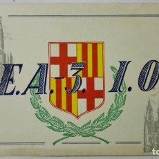 Radios antiguas: TARJETA RADIOAFICIONADO, EA-3-IO, BARCELONA., AÑOS 50. Lote 172720729