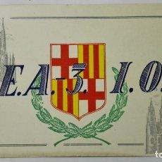 Radios antiguas: TARJETA RADIOAFICIONADO, EA-3-IO, BARCELONA., AÑOS 50. Lote 172720748