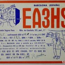 Radios antiguas: TARJETA RADIOAFICIONADO, EA-3-HS, BARCELONA., AÑOS 50. Lote 172720847