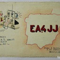 Radios antiguas: TARJETA RADIOAFICIONADO, EA-4-JJ, MADRID., AÑOS 50. Lote 172721325
