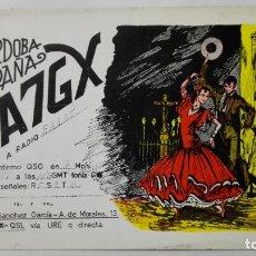 Radios antiguas: TARJETA RADIOAFICIONADO, EA-7-GX, CORDOBA., AÑOS 50. Lote 172721518