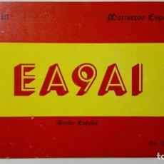 Radios antiguas: TARJETA RADIOAFICIONADO, EA-9-AI, MOTA DEL MELILLA - MARRUECOS ESPAÑOL, AÑOS 50. Lote 172721895
