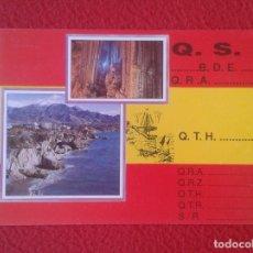 Radios antiguas: POSTAL POST CARD QSL RADIOAFICIONADOS RADIO AMATEUR ESPAÑA NERJA BANDERA FLAG VE FOTOS Y DESCRIPCIÓN. Lote 173631464