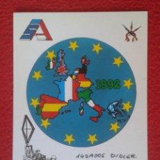 Radios antiguas: POSTAL POST CARD QSL RADIOAFICIONADOS RADIO AMATEUR SIERRA ALFA MAP MAPA EUROPA UNIÓN COMUNIDAD EURO. Lote 173794703