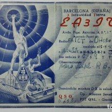 Radios antiguas: TARJETA RADIOAFICIONADO EA-3-IT, BARCELONA. AÑOS 50.. Lote 173867243
