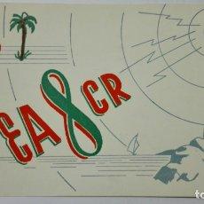 Radios antiguas: TARJETA RADIOAFICIONADO EA-8-CR, SANTA CRUZ DE LA PALMA . AÑOS 50.. Lote 173868068