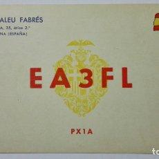 Radios antiguas: TARJETA RADIOAFICIONADO EA-3-FL, BARCELONA. AÑOS 50.. Lote 173869183