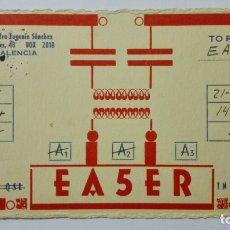 Radios antiguas: TARJETA RADIOAFICIONADO EA-5-ER, VALENCIA. AÑOS 50.. Lote 173871144