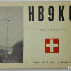 Radios antiguas: TARJETA RADIOAFICIONADO HB-9-KU, SWITZERLAND. AÑOS 50.. Lote 173872589