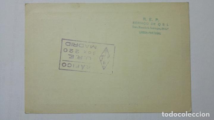 Radios antiguas: TARJETA RADIOAFICIONADO CT-1-EN, PORTUGAL. AÑOS 50. - Foto 2 - 173872635