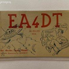 Radios antiguas: TARJETA RADIOAFICIONADO EA4DT HOYO DE MANZANARES (MADRID). AÑO 1952.. Lote 254979050