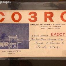 Radios antiguas: TARJETA RADIOAFICIONADO HAVANA (CUBA). AÑO 1956.. Lote 173925354
