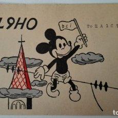 Radios antiguas: TARJETA RADIOAFICIONADO, DL-9-HO, MUNICH. AÑOS 50. Lote 174022095