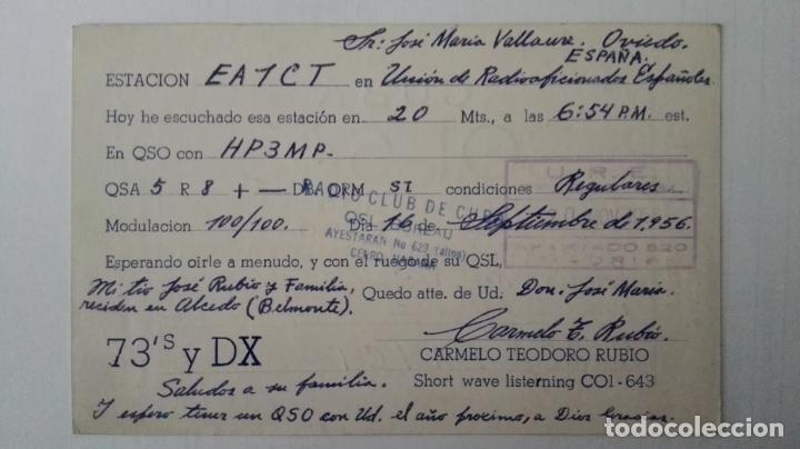 Radios antiguas: TARJETA RADIOAFICIONADO, CO1-643, PINAR DEL RIO, CUBA. AÑOS 50 - Foto 2 - 174022649