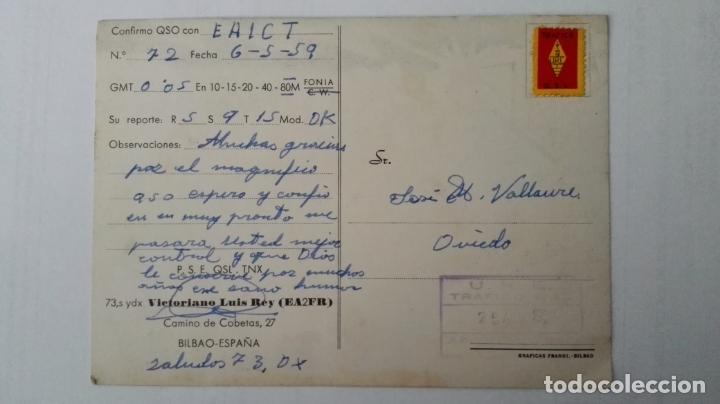 Radios antiguas: TARJETA RADIOAFICIONADO, ES-2-FR, BILBAO. AÑOS 50 - Foto 2 - 174022904