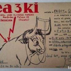 Radio antiche: TARJETA RADIOAFICIONADO, ES-3-KI, BARCELONA. AÑOS 50. Lote 174023012
