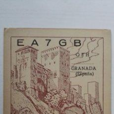 Rádios antigos: TARJETA RADIOAFICIONADO, EA-7-GB, GRANADA. AÑOS 50. Lote 174023129