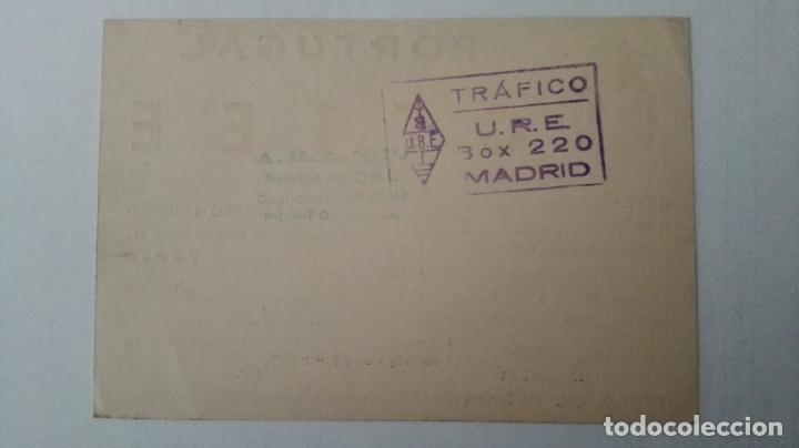 Radios antiguas: TARJETA RADIOAFICIONADO, CT-1-EE, PORTO, PORTUGAL AÑOS 50 - Foto 2 - 174023435