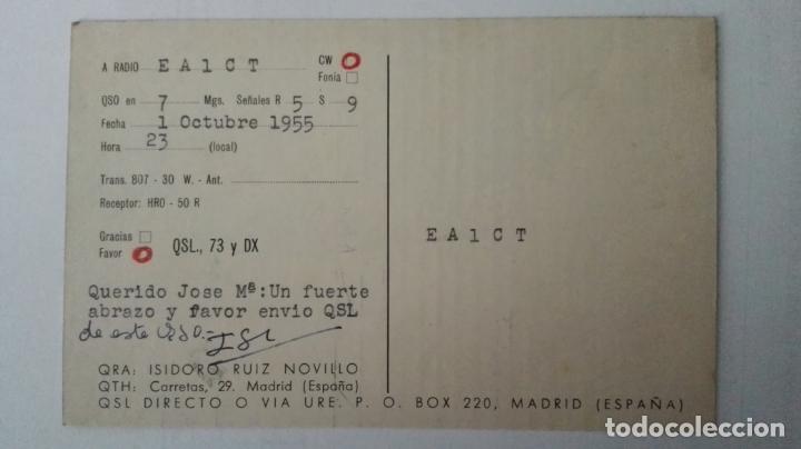 Radios antiguas: TARJETA RADIOAFICIONADO, EA-4-DO, MADRID AÑOS 50 - Foto 2 - 174023565