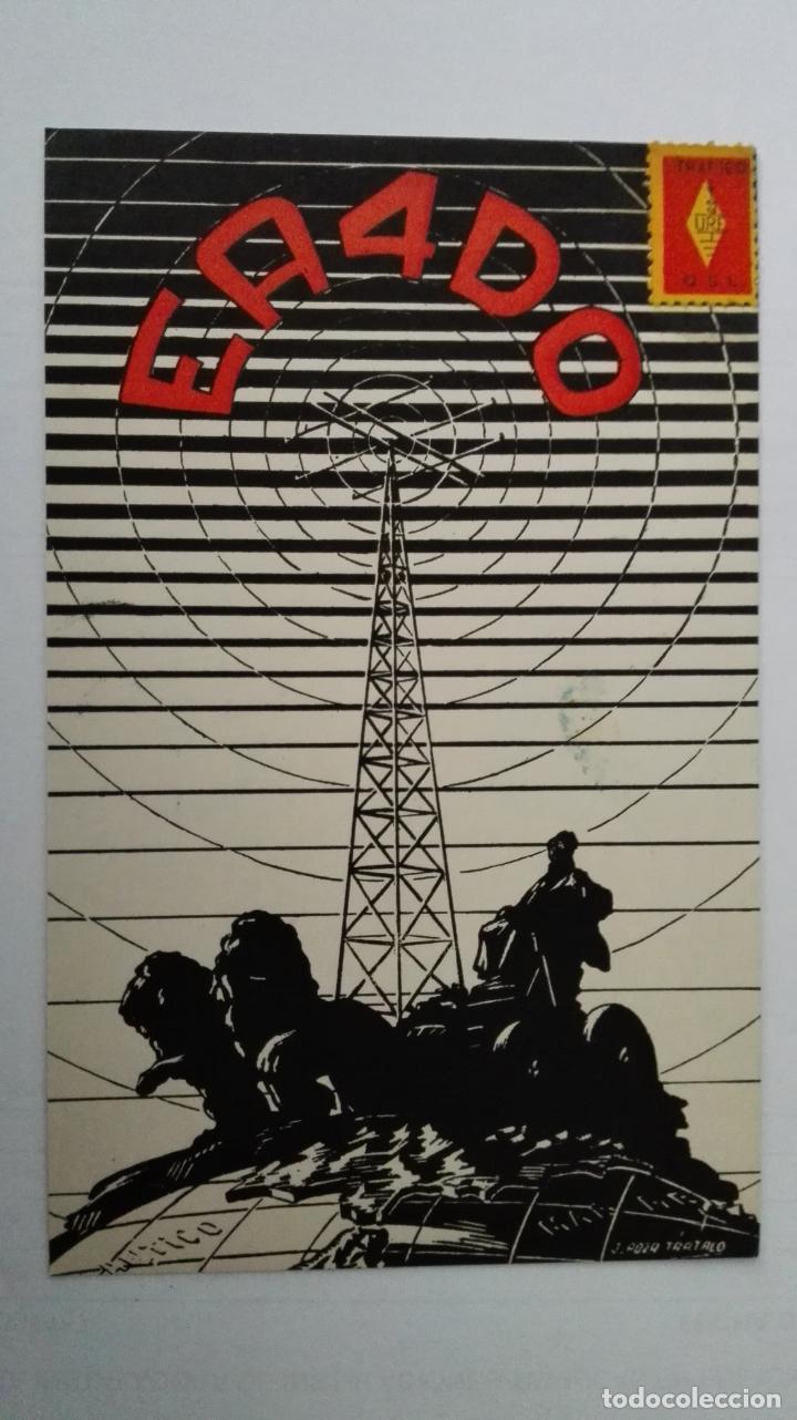 TARJETA RADIOAFICIONADO, EA-4-DO, MADRID AÑOS 50 (Radios, Gramófonos, Grabadoras y Otros - Radioaficionados)