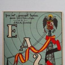 Radios antiguas: TARJETA RADIOAFICIONADO, EA-2-HB, JACA AÑOS 50. Lote 174023648