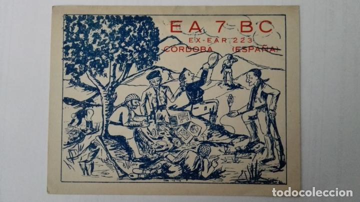 TARJETA RADIOAFICIONADO, EA-7-BC, CORDOBA, AÑOS 50 (Radios, Gramófonos, Grabadoras y Otros - Radioaficionados)