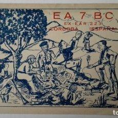 Radios antiguas: TARJETA RADIOAFICIONADO, EA-7-BC, CORDOBA, AÑOS 50. Lote 174024263