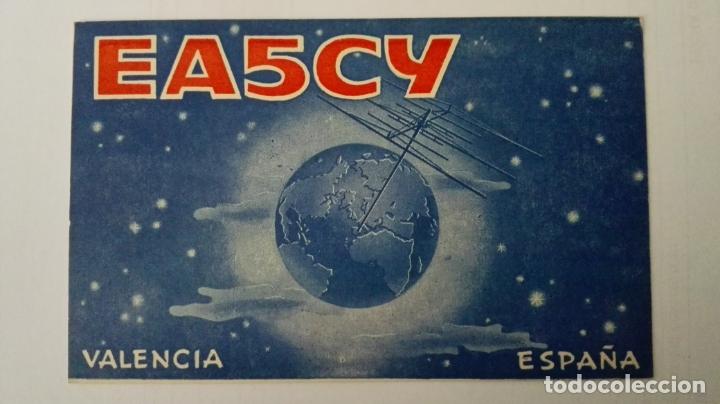 TARJETA RADIOAFICIONADO, EA-5-CY, VALENCIA, AÑOS 50 (Radios, Gramófonos, Grabadoras y Otros - Radioaficionados)