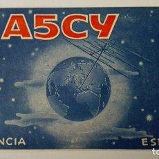 Radios antiguas: TARJETA RADIOAFICIONADO, EA-5-CY, VALENCIA, AÑOS 50. Lote 174024398