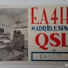 Radios antiguas: TARJETA RADIOAFICIONADO, EA-4-HL, MADRID, AÑOS 50. Lote 174062379
