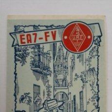 Radios antiguas: TARJETA RADIOAFICIONADO, EA-7-FV, MADRID, AÑOS 50. Lote 174075278