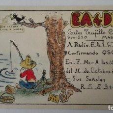 Radios antiguas: TARJETA RADIOAFICIONADO, EA-4-DR, MADRID, AÑOS 50. Lote 174075388