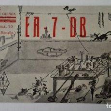 Radios antiguas: TARJETA RADIOAFICIONADO, EA-7-DB, SEVILLA, AÑOS 50. Lote 174075824