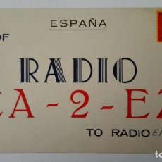 Radios antiguas: TARJETA RADIOAFICIONADO, EA-2-EZ, BILBAO, AÑOS 50. Lote 174077925