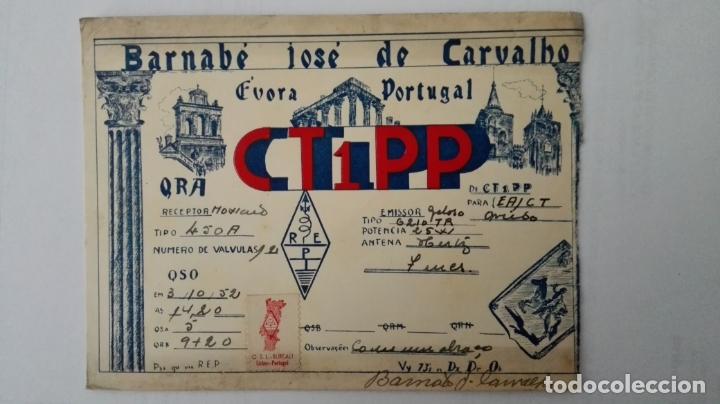 TARJETA RADIOAFICIONADO, CT-1-PP, FUORA - PORTUGAL, AÑOS 50 (Radios, Gramófonos, Grabadoras y Otros - Radioaficionados)